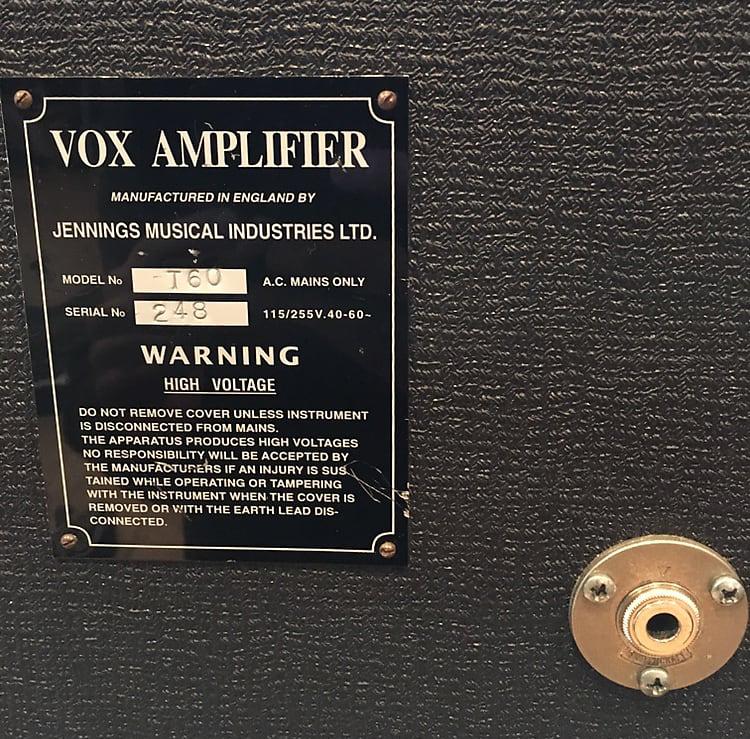 Early Vox T60 bass amplifier