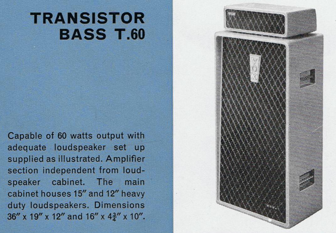 Vox catalogue of 1964
