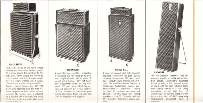Vox Bristol Bass in the Million Dollar Sound catalogue