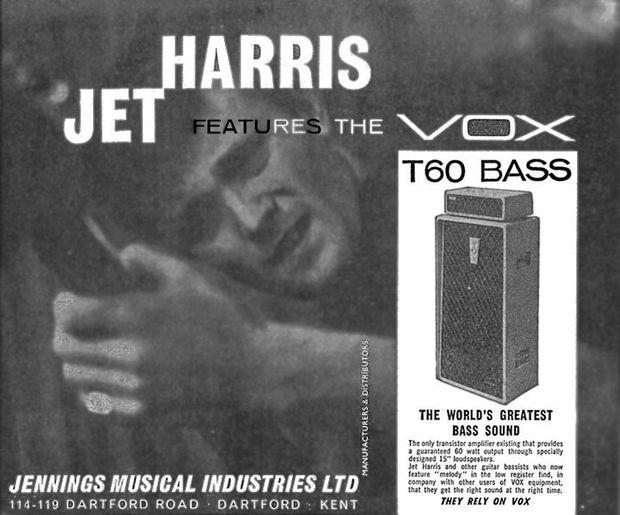 Jet Harris advert for the T60 amplifier