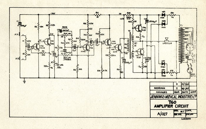 Schematic for the Vox T60